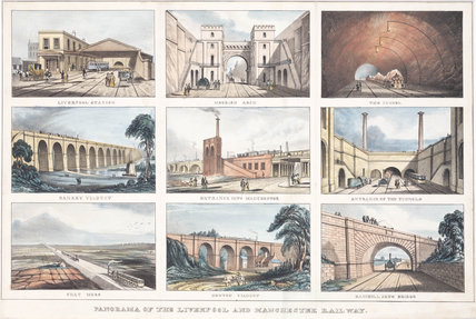'Panorama of the Liverpool & Manchester Railway', c 1833.