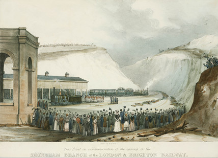 Opening of the Shoreham Branch of the London & Brighton Railway, 1840.