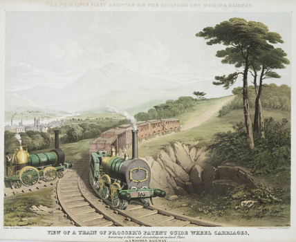 'Proser's Patent Guide Wheel Carriages', c 1845.