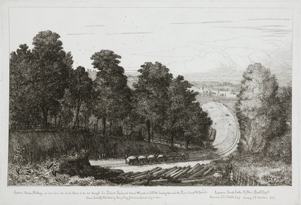 A view of the East Union Railway, Wherstead, Suffolk, c 1844-1862.