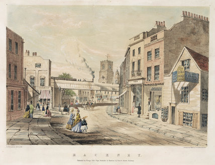 Bridge over Man Street, Hackney, London, mid 19th century.