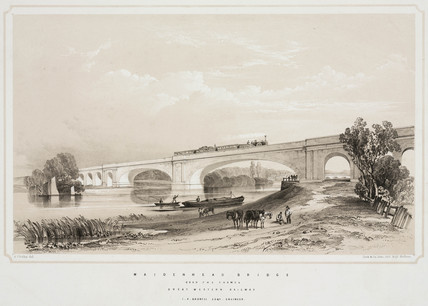 The Maidenhead Bridge, Berkshire, c 1845.
