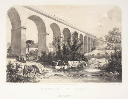 The Dutton Viaduct, River Weaver, Cheshire, 1848.