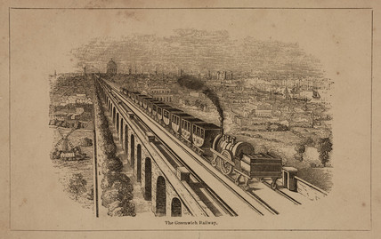 'The Greenwich Railway', c 1840.