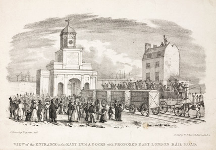 'View of the Entrance to the East India Docks ...', London, 19th century.