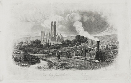 'Canterbury from South Eastern Railway', Kent, 19th century.