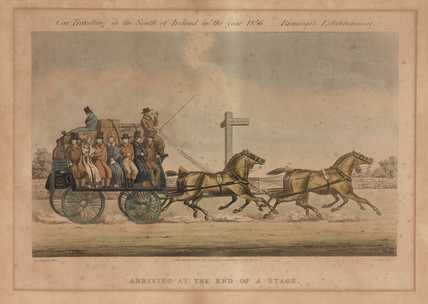 'Arriving at the End of a Stage', Ireland, 1856.
