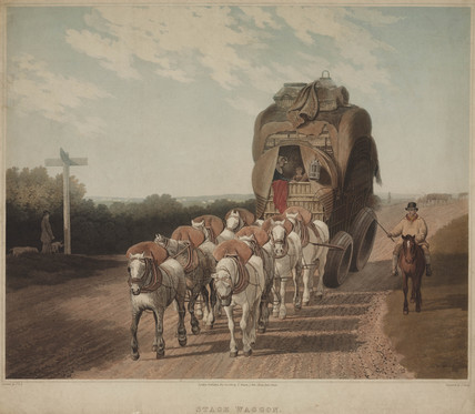 'Stage Waggon', 1820.
