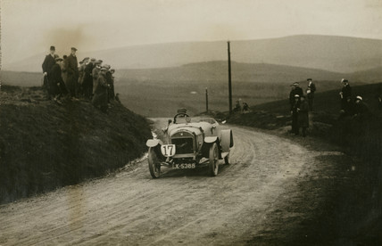 Waverley racing car, Waddington Fells, Lancashire, c 1912.