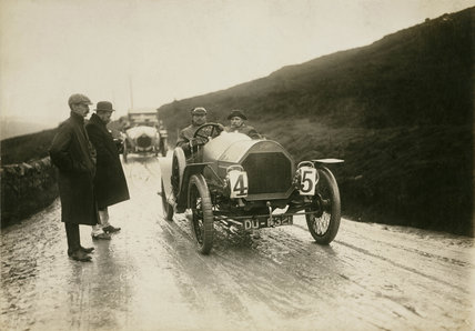 Humber racing car, Lancashire, c 1912.