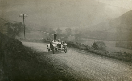 Car competing in the Manchester Automobile Club Hill Climb, 1912.