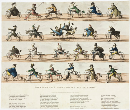 'Four and Twenty Hobby Horses all in a Row', 1819.