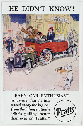 'He Didn't Know! Baby Car Enthusiast', c 1920.