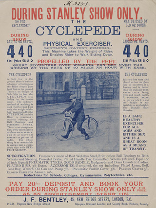 'The Cyclepede', c 1910.