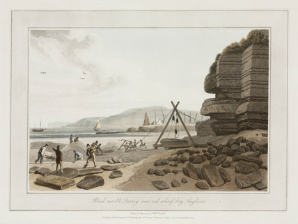 Black Marble Quarry, Red Wharf Bay, near Anglesey, 1815.