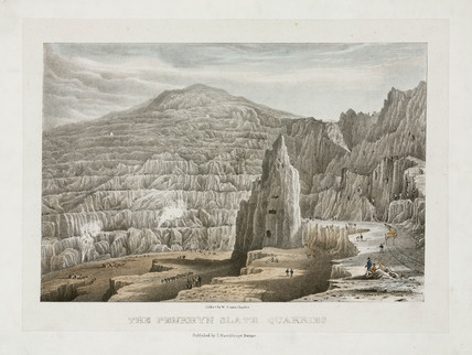 Penrhyn Slate Quarries, Wales, 1842.