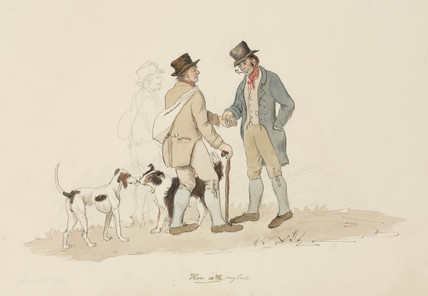 A meeting, Northumberland, c 1805-1820.