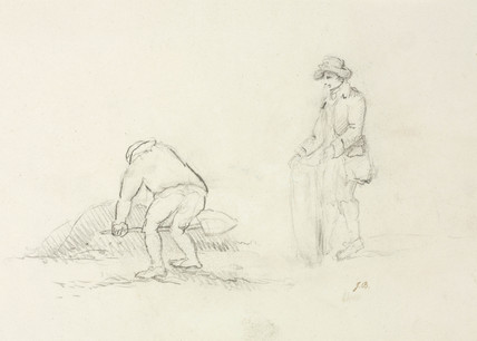 Digging, lead mines, Northumberland, c 1805-1820.