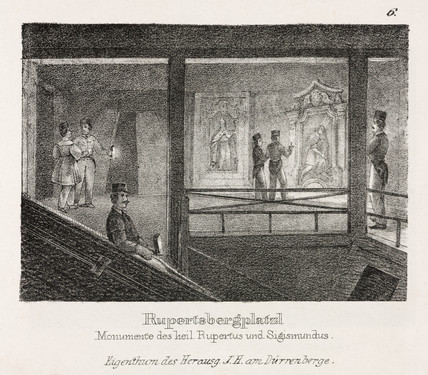 'Monuments of St Rupertus and Sigismundus', Durrnberg, 19th century.