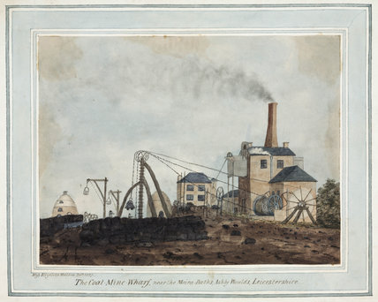 Coal-mine wharf near the Moira Baths, Ashby Woulds, Leicestershire, 1837.