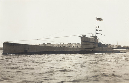 The L18 submarine, early 20th century.