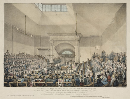 Opening of the Lecture Theatre at Marylebone, London, 1835.