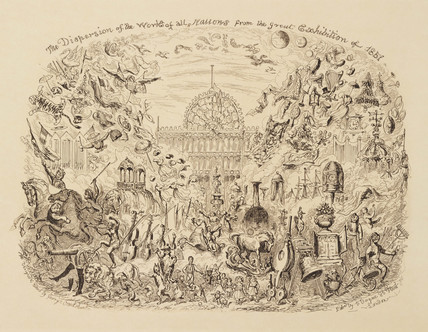 'The Dispersion of the works of all nations from The Great Exhibition', 1851.
