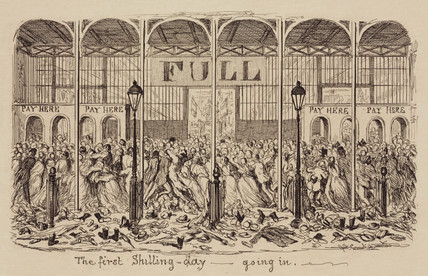'The First shilling-day - going in', 1851.