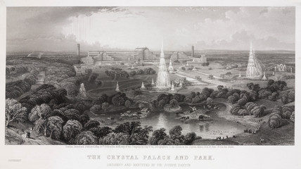 The Crystal Palace, Sydenham, London, 1854.