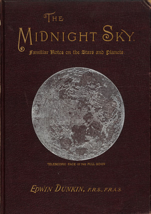 'Telescopic Face of the Full Moon', book cover, 1891.