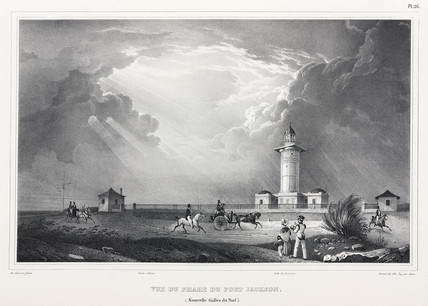 Lighthouse at Port Jackson, New South Wales, Australia, 1826-1829.