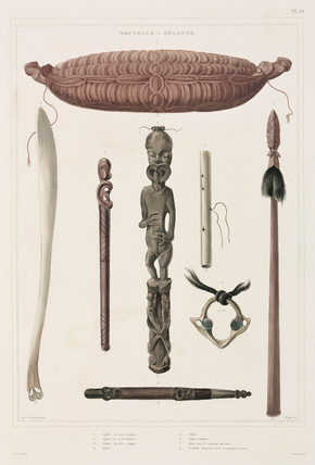 Maori artefacts, New Zealand, 1826-1829.