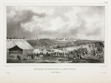 Horse racing at Longwood, Saint Helena, 1826-1829.
