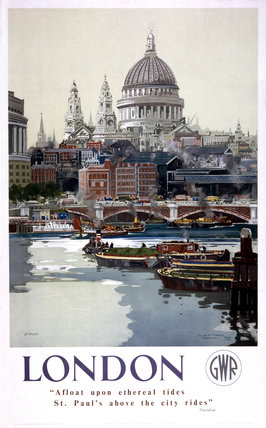'London', GWR poster, 1940s.