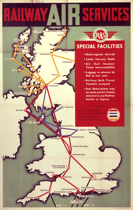 'Railway Air Services', RAS poster, 1940s.