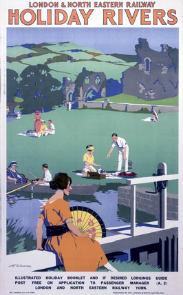 'Holiday Rivers', LNER poster, c 1930s.