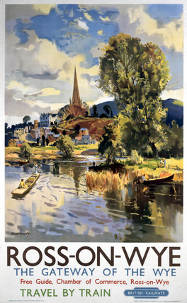'Ros-on-Wye', BR (WR) poster, 1951.