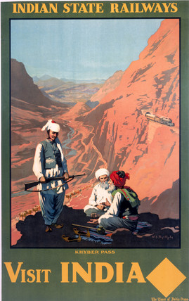 'Visit India', Indian State Railways poster.