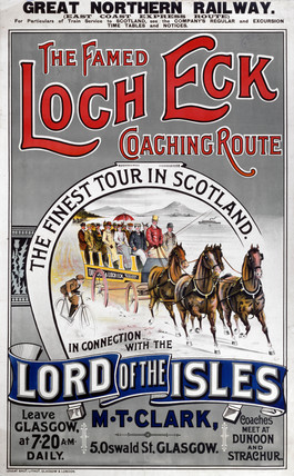 'The Famed Loch Eck Coaching Route', GNR poster, 1900-1923.