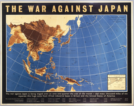 'The War against Japan', poster, c 1944. Ma
