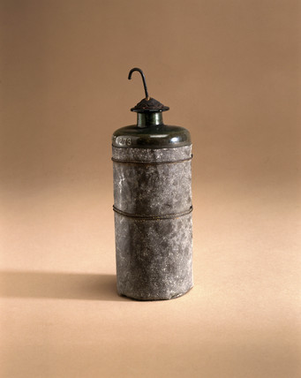 Leyden jar, late 18th century. This was inv