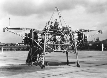 Rolls-Royce VTOL Test Bed, XJ 314, (Flying Bedstead), 1954.