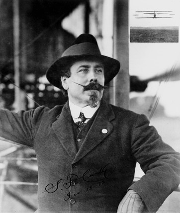 Samuel Franklin Cody, British aviator, 1912.