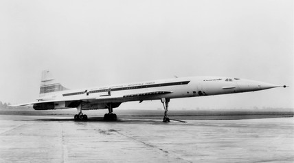 Concorde 002 at Yeovilton, Somerset, June 1979.