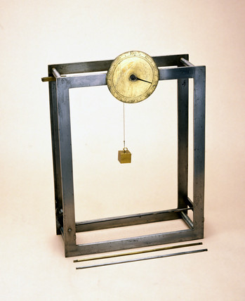 Hindley's pyrometer with three expansion tubes, 1752.