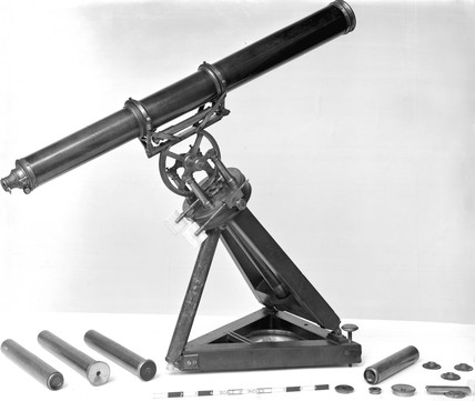 Achromatic telescope on portable equatorial stand, c 1769.