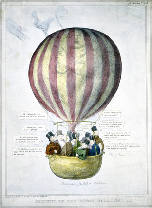 'Descent of the Great Balloon', 1836.