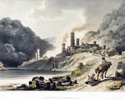 'Iron Works, Colebrook Dale', 1805.