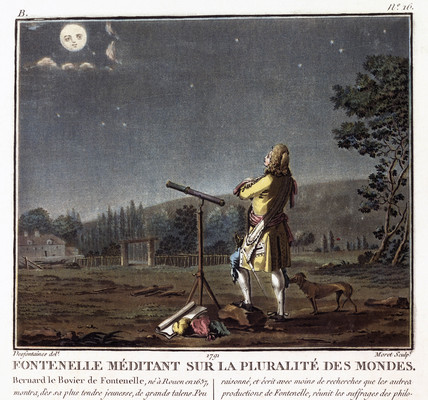 'Fontenelle Meditating on the Plurality of Worlds', c 1700.
