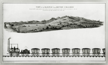 Hetton Colliery railway, Hetton-le-Hole, County Durham, c 1822.